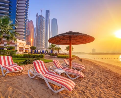 Sunrise in Abu Dhabi. Living & Working in Abu Dhabi